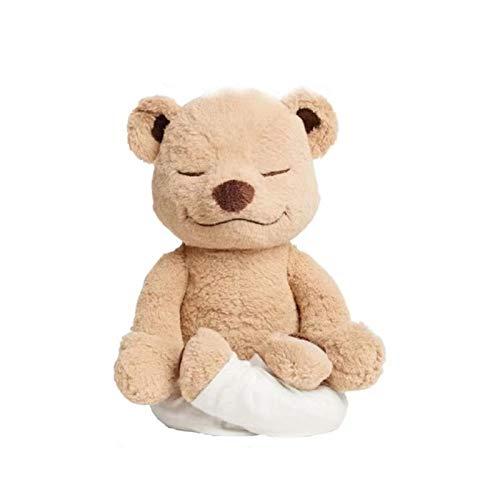Spielzeuge Meddy Teddy Original Yoga Bear Plüschspielzeug Schöne Begleitung Spielzeug Für Erwachsene und Kinder Sorte Form Kawaii Plüsch Puppe (Color : Braun)