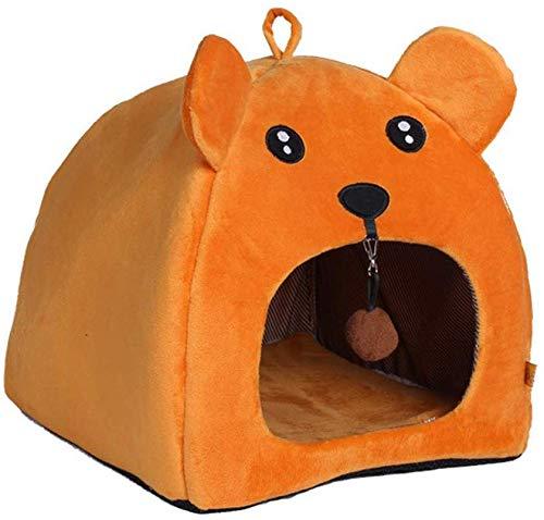 Soul hill Klappbares Haustierbett für den Winter, warm, weiches Plüsch, für Katzen, Hamster, Eichhörnchen, kleine Tiere, Welpen, Schlafsack für Hundehütte, Matte, Kissen, Korb, M: 35 x 35 x 35 cm