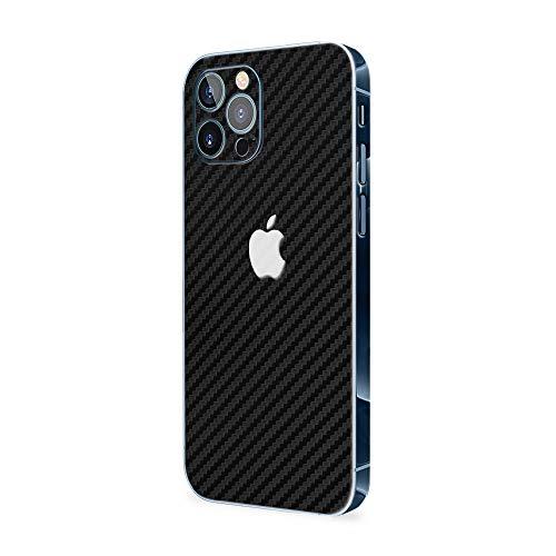 Normout iPhone 12 Pro Schutzfolie Rückseite Carbon Black - 2X iPhone 12 Pro Folie Rückseite, inklusive 2X iPhone 12 Pro Kameraschutz Folie - Schützt vor Kratzern, Beschädigungen&Fingerabdrücken