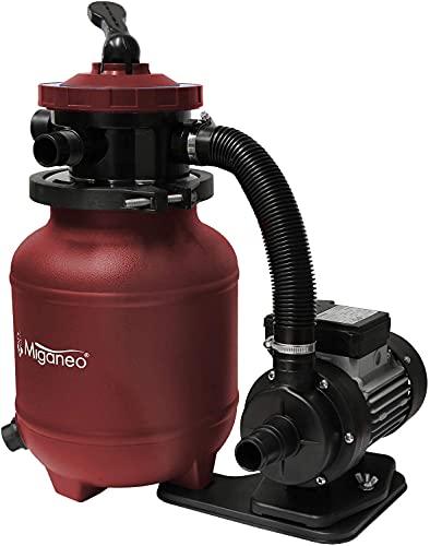 Miganeo® Speed Clean 7000 Sandfilter mit Zeitschaltuhr für Pool bis 22m³ selbstsaugend