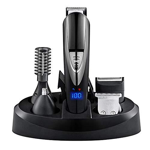 Hair Clippers Multifonctionnel électrique Tondeuse à Cheveux Ensemble Tondeuse électrique sans Fil Barbe Tondeuse Professionnelle Rechargeable Tondeuse à Cheveux