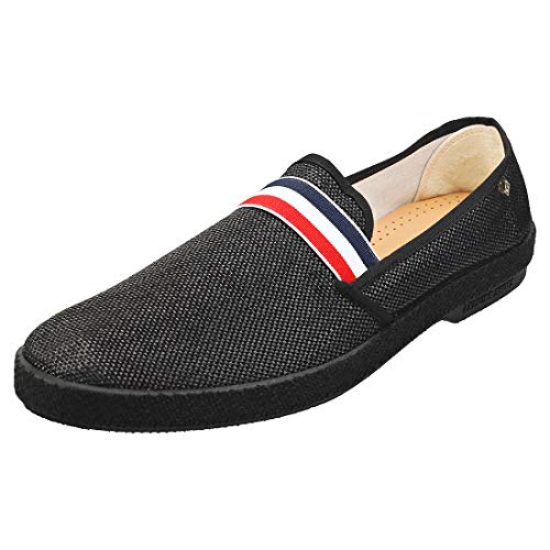 Rivieras Montecristi Cocarde Mens Espadrille Shoes in Black - 10.5 US