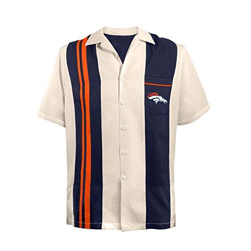 NFL Denver Broncos NFL Spare Bowling Shirt Plus 4XL, Unisex-Erwachsene, NFL Spare Bowling Shirt - Guayabera Bowling Casual Dress Shirt, Teamfarbe, 4X-Large