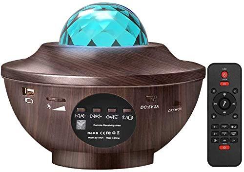 LEDSternenhimmelProjektor,AmouhomOzeanwellenProjektormitFernbedienung/Bluetooth5.0/360°Drehen/3HelligkeitsstufenBesteGeschenkefürPartyWeihnachtenOstern