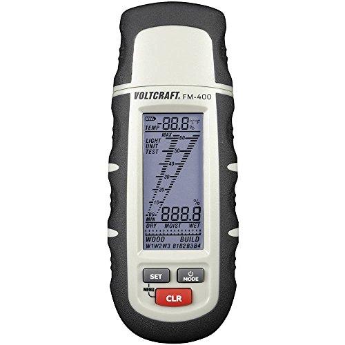 VOLTCRAFT FM-400 Materialfeuchtemessgerät Messbereich Baufeuchtigkeit (Bereich) 0.1 bis 24{978a803eb2c49a2eb2a8d3a97feaf2af6ffbd8b4384fbd9bbe9a166bb568516e} vol Messbereich Holzfeucht