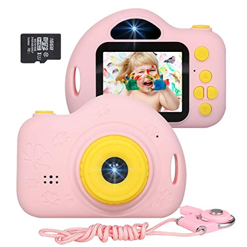 JLtech Kids Camera, Digital Video Recorder Camera for Girls, Rechargeable Shockproof Mini...