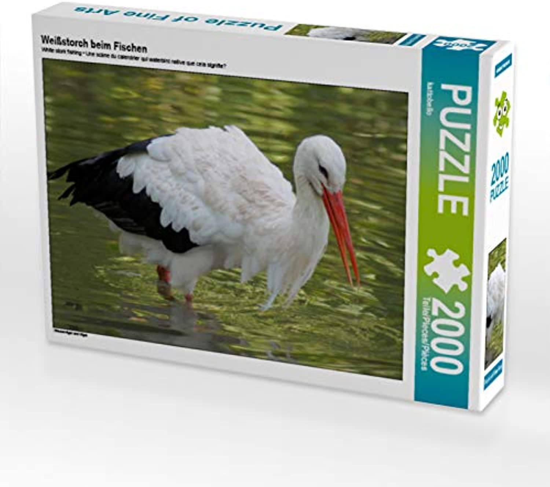CALVENDO Puzzle Weißstorch beim Fischen 2000 Teile Lege-Größe 90 x 67 cm Foto-Puzzle Bild von kattobello B07JN455GN Erste Gruppe von Kunden   Clearance Sale