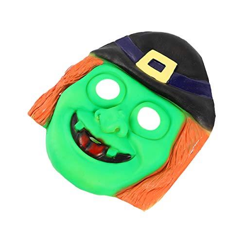 Amosfun Halloween Hexenmasken Gruselige Monstermaske Blutige Gesichtsbedeckung Horror Gasmaske Cosplay Kostüm Spukhaus Requisiten Halloween Party Gefälligkeiten