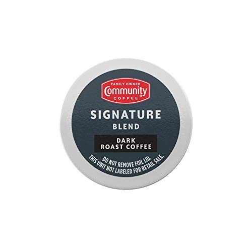 Community Coffee Signature Blend 72 Count Coffee Pods, Dark Roast, Compatible with Keurig 2.0 K-Cup Brewers, 12 Count (Pack of 6)