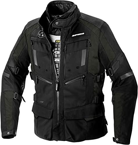 SPIDI Motorradjacke mit Protektoren Motorrad Jacke 4 Season Evo H2Out Textiljacke schwarz XL, Herren, Tourer, Ganzjährig