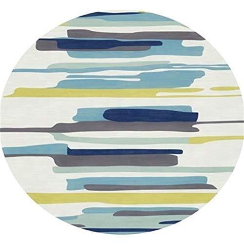 Jucaiyuan Alfombra, Ronda de Alfombra Antideslizante y Transpirable Resistente al Desgaste Inicio Aseo de la Estera del Piso, de 7 mm, 6 Colores, 4 tamaños Alfombra (Color : F, Size : 100cm)