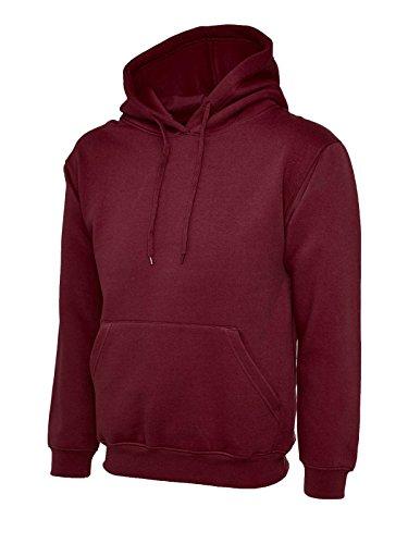 UC502 - Maroon - Large - 300GSM Classic Hooded Sweatshirt