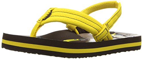 Reef Ahi Boys Flip Flops - Yellow Trucks UK 34