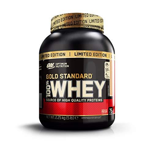 Optimum Nutrition 100% Whey Gold Standard, Proteine in Polvere per lo Sviluppo Muscolare con Glutammina e Aminoacidi, Girelle alla Cannella, 2.22 kg - 2.27 kg, 75 Porzioni