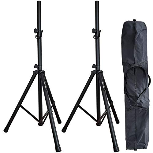 AxcessAbles SSB-101 Universal Tripod Speaker Stands with Carrying Bag (2-Pack)