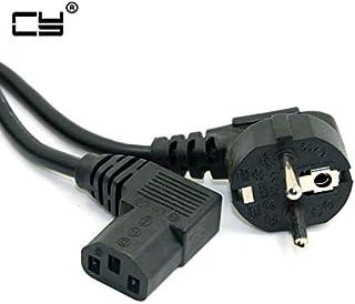 كابلات ووصلات الكمبيوتر - C13 IEC Kettle 90 درجة صحيحة إلى Europeán 2 دبوس مستدير áC EU قابس الطاقة حبل من مادة PC 150 سم ...