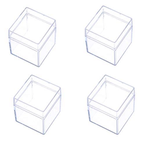 STOBOK 4 stücke Klar Aufbewahrungsbehälter Box Geschenkbox transparente Frischhaltedosen Aufbewahrungsbehälter