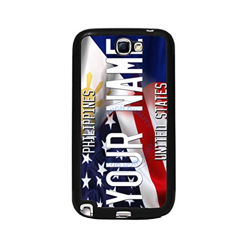 BRGiftShop Personalize Your Own Mixed USA and Venezuela Flag Rubber Phone Case For Samsung Galaxy J7 2018