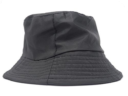 Sombrero Impermeable Mate para la Lluvia, Gorro con Interior de Forro Polar...