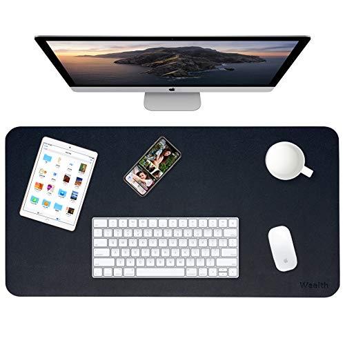 Weelth Tappetino per Mouse, 800x400mm Sottomano da Ufficio, Mouse Pad in Similpelle, Impermeabile, Doppia Facciata