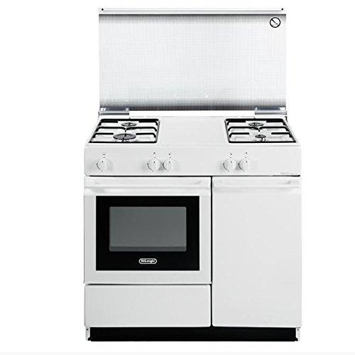 De Longhi Cucina SGW-854N a Gas 4 Fuochi e Forno a Gas Colore Bianco