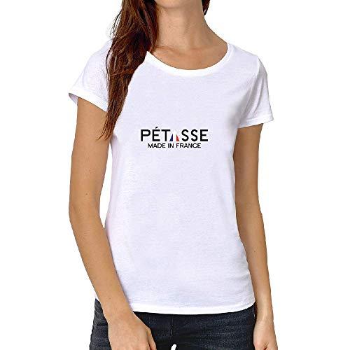 LookMyKase T-Shirt - Petasse Made in France² - Femme - Blanc - Medium