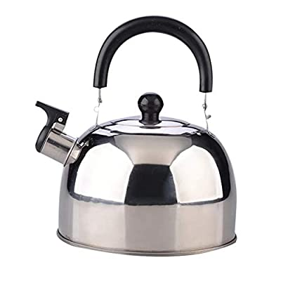 Whistling Stainless Steel Tea Kettle, Quart Tea Pot with Heat-Proof Handle ?Stovetop Suitable for All Heat Sources