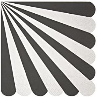 Meri Meri Toot Sweet Black Stripe Small Napkin by Meri Meri