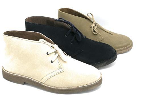 Irwin 1050 laarzen veters type Clark van suède Sesamo blauw beige - maat schoen 43 kleur blauw blauw