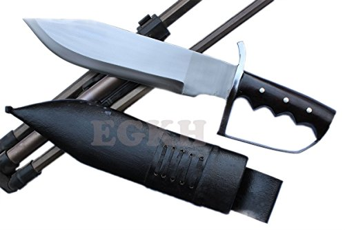 "EGKH -13"" Large Fighting D-Guard Bowie,Outdoor Khukuri Knife, Kukri Blade Machete - Handmade By Ex Gurkha Khukuri House"