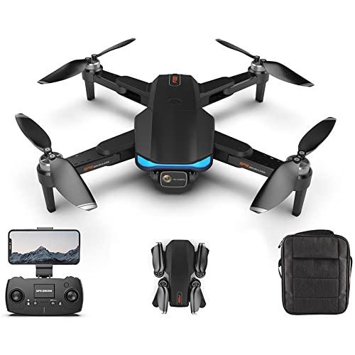 YINHA 6K UHD GPS. Drone con Fotocamera for Adulti, Quadcopter Pieghevole con Motore Brushless, Auto Ritorno Automatico A Casa, Seguimi, 28 Minuti Tempo di Volo, 1000m Intervallo di Controllo