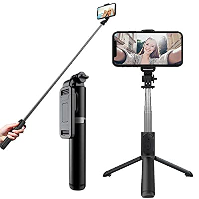 Selfie Stick Tripod, Phone Stand for Recording Live VLOG with Wireless Bluetooth, Selfie Stick Compatible with iPhone/Android/Camera/Gopro from Tbrand