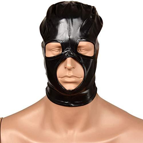 ZZDD FlExyh Unisex Black Head Ärmel mit Reißverschluss Hohlgesichtsmaske Paar Fun Game Toy Jeans Sunglasses Raincoat