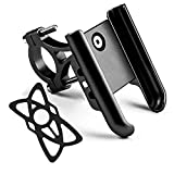 iMESTOU Bike/Motorcycle Phone Holder Aluminium Handlebar Phone Mount 360 Rotatable Compatible with Samsung Galaxy Note10/10+ iPhone Xs/XR 3.5-7.2inch Cellphones (Black)