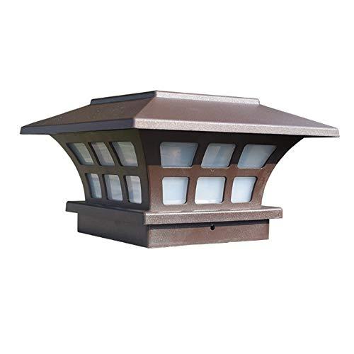 PDHCC Lampada solare esterna impermeabile Colonna chiaro capo for il giardino lampada da parete recinto del giardino della lampada for il cancello decorazione del giardino di paesaggio luce solare
