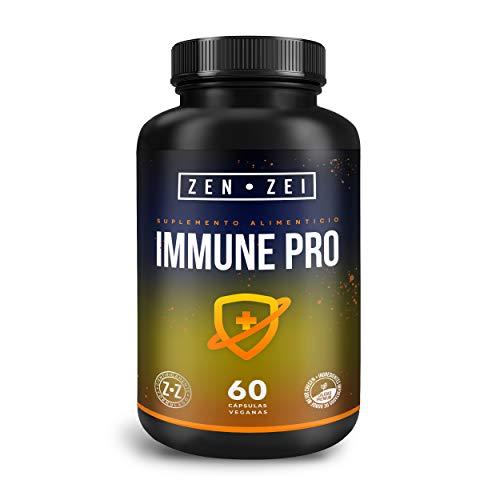 ZEN•ZEI | IMMUNE PRO - Científicamente Formulado con 6 Ingredientes para Aumentar, Reforzar y Mantener el Sistema Inmune - Con Echinacea, Zinc, Vitamina C, Jengibre, Ajo y Orégano | Calidad Premium