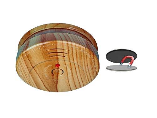 SMARTWARES Optischer Rauchmelder in Holzoptik inkl. Magnethalter, 85dB Alarm; RM149H; RMAG2
