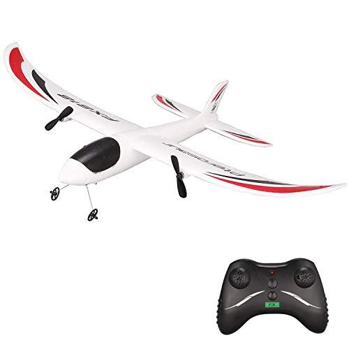 Juguetecnic Avion RC Teledirigido Planeador Electrico para Niños y Adultos EPP Poliespan Radiocontrol con Tren de Aterrizaje Aviones Teledirigidos Planeadores de Corcho 2 Canales Mini Sky Surfer