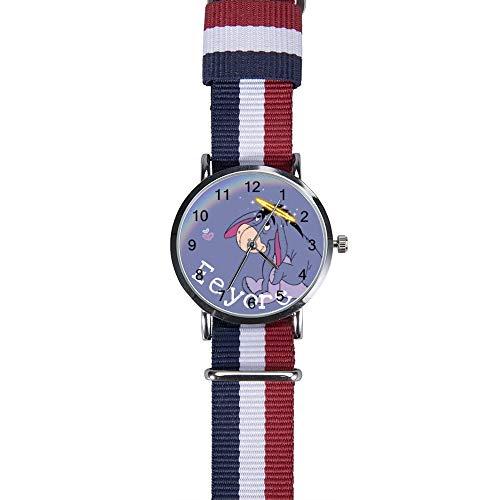 Eeyore Rainbow Reloj de pulsera de cuarzo para hombres, mujeres, niños, amigos, regalos