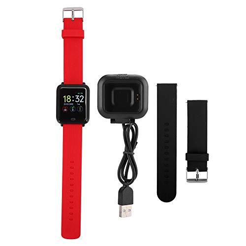 Andraw Banda Inteligente, Reloj Inteligente, Control táctil usable portátil Rojo multifunción para Mujeres Ancianos Hombres niño