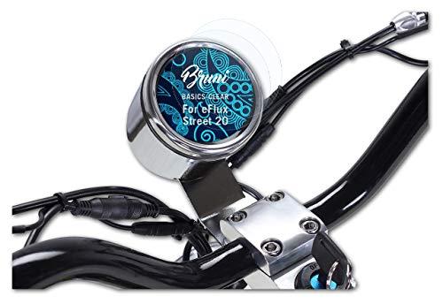 Bruni Protecteur d'écran Compatible avec eFlux Street 20 Film Protecteur, Cristal Clair Écran Protecteur (2X)