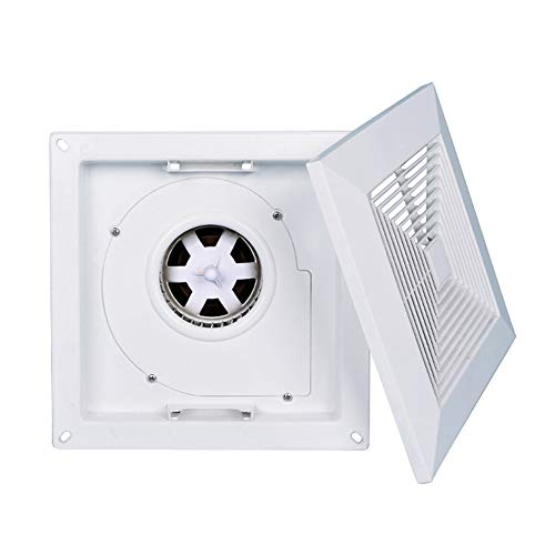 Extractor de techo, Potente extractor de baño de cocina extractor extractor, Ventilador de escape ultrafino de alta potencia y bajo nivel de ruido, Apto para salón, dormitorio, baño, cocina ZDDAB.