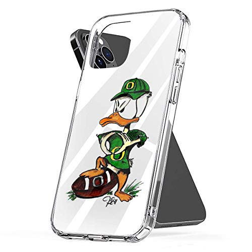 Phone Case Oregon U of O Duck Making O with Wings Compatible with iPhone 6 6s 7 8 X XS XR 11 Pro Max SE 2020 Samsung Galaxy Tested Bumper Accessories
