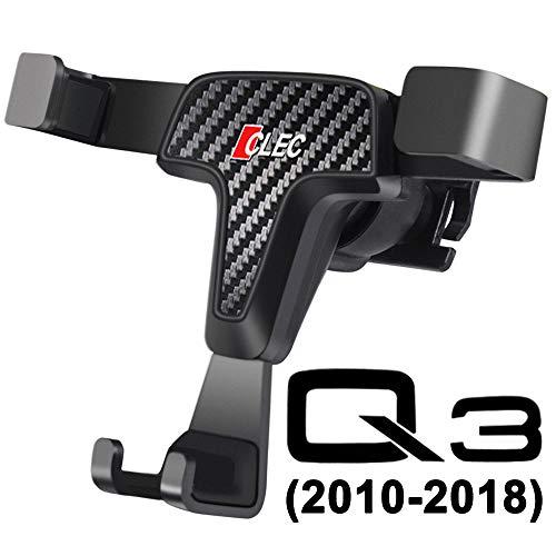 SoporteMóvilpara Audi Q3 8U, Gravedad Bloqueo Automático Aluminio Estable Manos Libres Montaje Fácil Diseño Separable Phone Holder Accesorios Audi Q3 Accessories (Gravity)