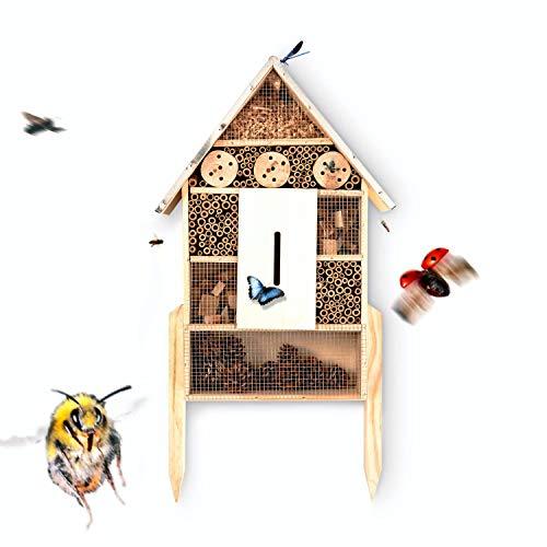 bambuswald© Insektenhotel ca 78 x 37 cm | Bienenhotel Unterschlupf für Insekten - Insektenhaus Naturmaterialien. Gelebter Natur- & Artenschutzfür Zuhause -NistkastenHausNützlingshotel Schutz