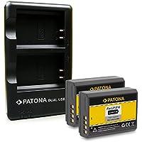 PATONA Cargador Doble + 2X Batería LP-E10 Compatible con Canon EOS 1100D 1200D 1300D 2000D 4000D Rebel T3 T5 T6 Kiss X50 X70 X80