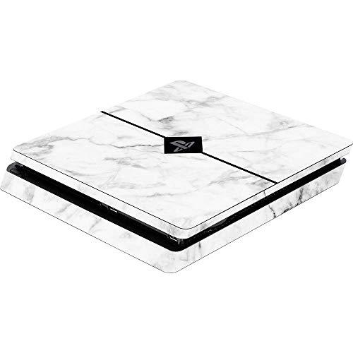 Software Pyramide Skin für PS4 Slim Konsole White Marble Cover PS4 Slim