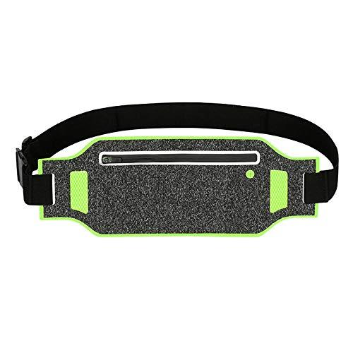 TRUEGRIT Bolsa Universal con Brazalete Impermeable para cinturón Brazalete Deportivo de Licra Bolsa para Correr Verde