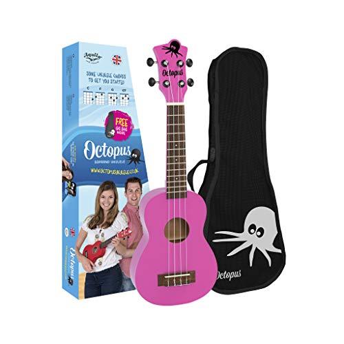 Octopus Ukelele soprano en rosa
