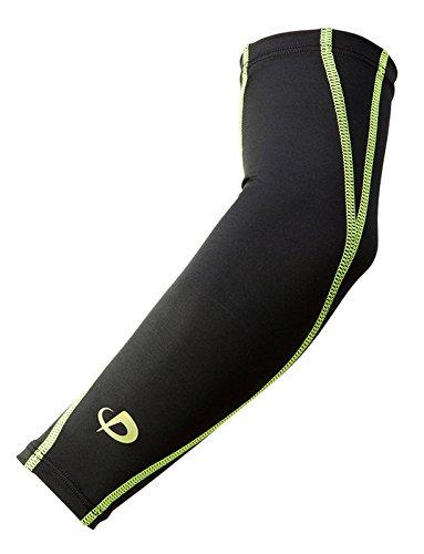 ファイテン スポーツスリーブX30腕用2枚ブラック×グリーンS